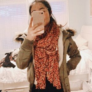anthropologie patterned scarf